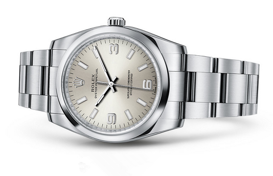 Rolex Oyster Perpetual 114200 Swiss Automatic Watch Silver Dial 34MM