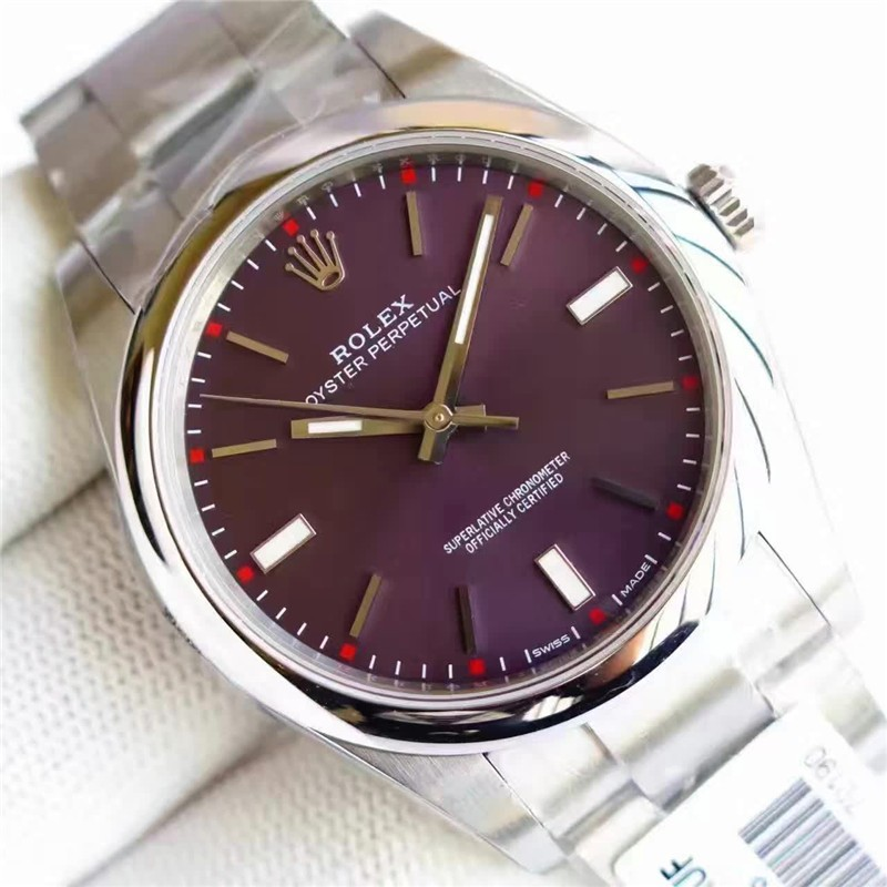Rolex Oyster Perpetual 114300-0002 Swiss Automatic Red Grape Dial 41MM