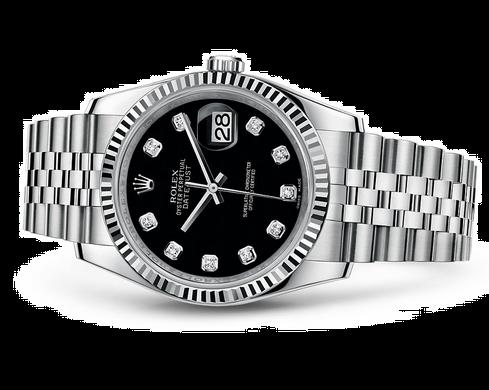 Rolex Datejust 116234-0083 Swiss Automatic Watch Black Dial Jubilee Bracelet 36MM