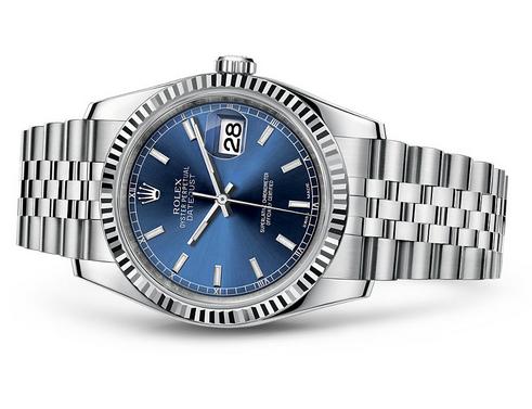 Rolex Datejust 116234,0139 Swiss Automatic Blue Dial Jubilee