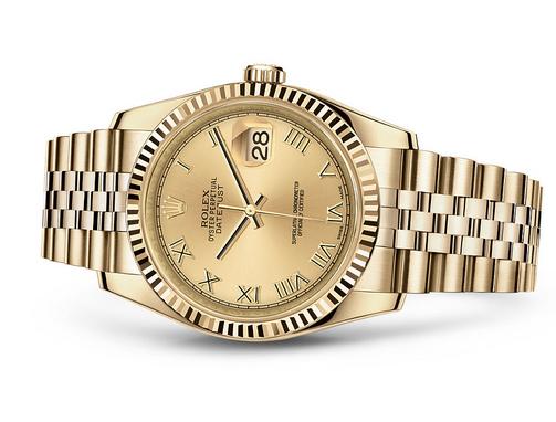 Rolex Datejust 116238-0070 Swiss Automatic Watch Full Gold Jubilee Bracelet 36MM