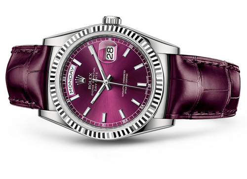 Rolex Day-Date 118139 Swiss Automatic Watch Cherry Dial 36MM