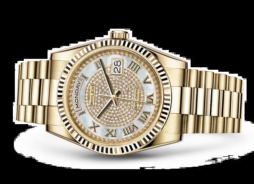 Rolex Day-Date 118238 Swiss Automatic Watch Diamonds Dial 36MM
