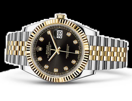 Rolex Datejust 126333-6 Swiss Automatic Watch Black Dial Jubilee Bracelet 41MM