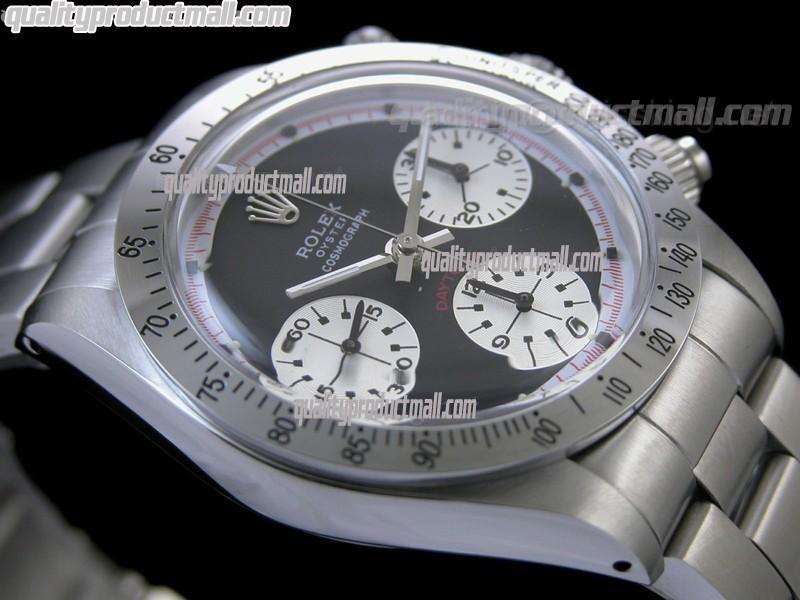 Rolex Daytona Paul Newman Chronograph-Black Dial White Subdials-Red Inner-Stainless Steel Oyster Bracelet