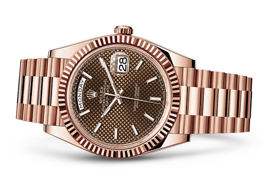 Rolex Day-Date 228235-0006 Swiss 3255 Automatic Watch Brown Dial Presidential 40MM