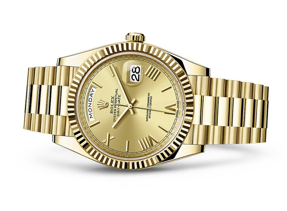 Rolex Day-Date 228238-0006 Swiss 3255 Automatic Watch Gold Dial 40MM
