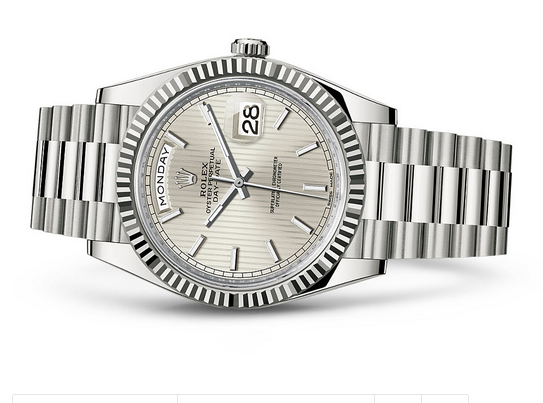 Rolex Day-Date 228239 Swiss 3235 Automatic Watch Silver Dial Presidential 40MM