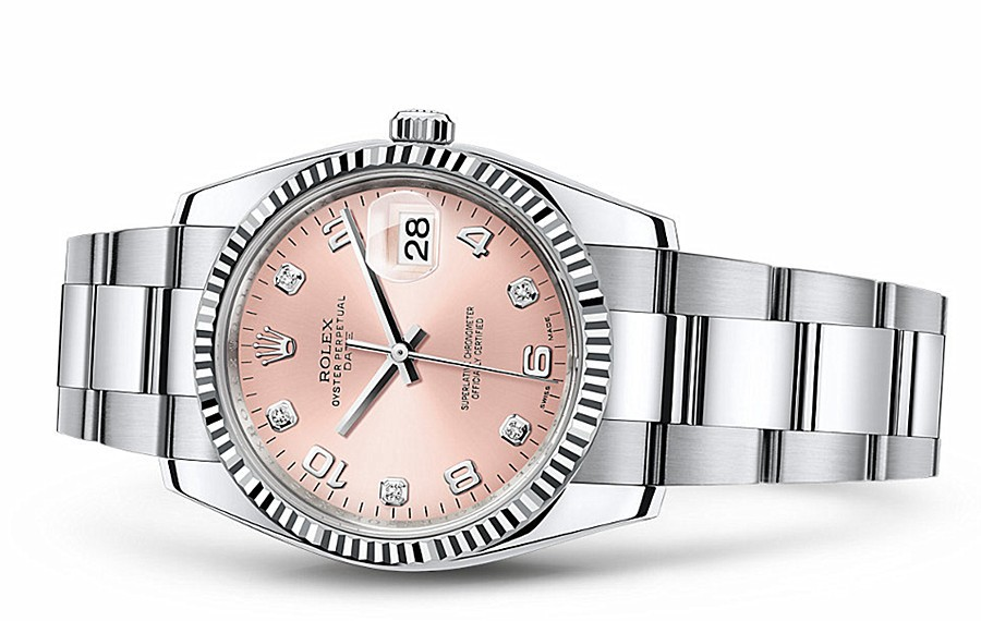 Rolex Oyster Perpetual Date 115234-0009 Swiss Automatic Pink Dial 34MM