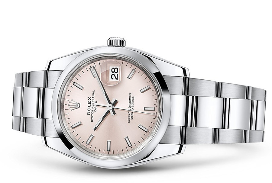 Rolex Oyster Perpetual Date 115200-0005 Swiss Automatic Pink Dial 34MM