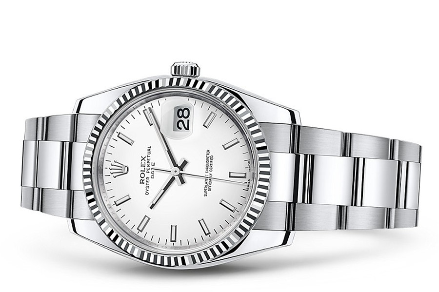 Rolex Oyster Perpetual Date 115234-0003 Swiss Automatic White Dial 34MM
