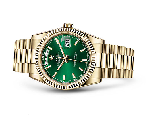 Rolex Day-Date 118238 2016 Swiss Automatic Watch Green Presidential 36MM