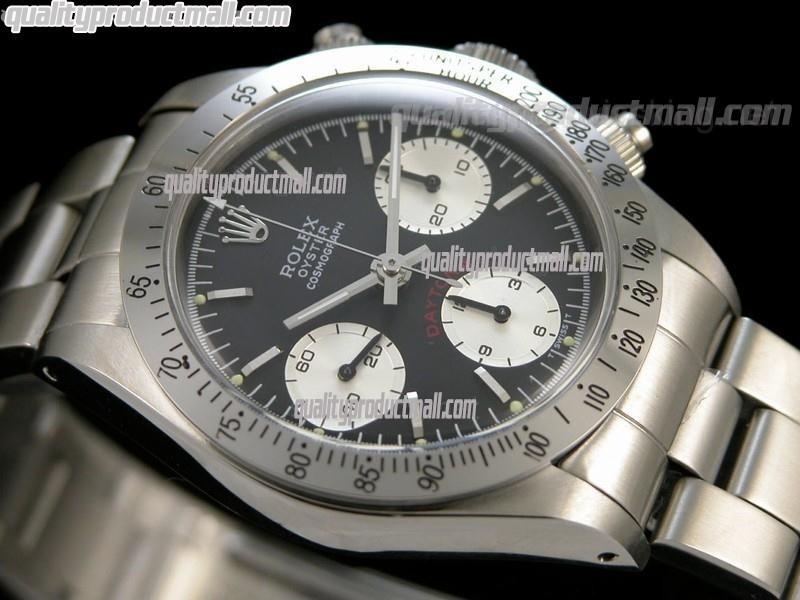 Rolex Daytona Paul Newman Chronograph-Black Dial White Subdials-White Inner-Stainless Steel Oyster Bracelet