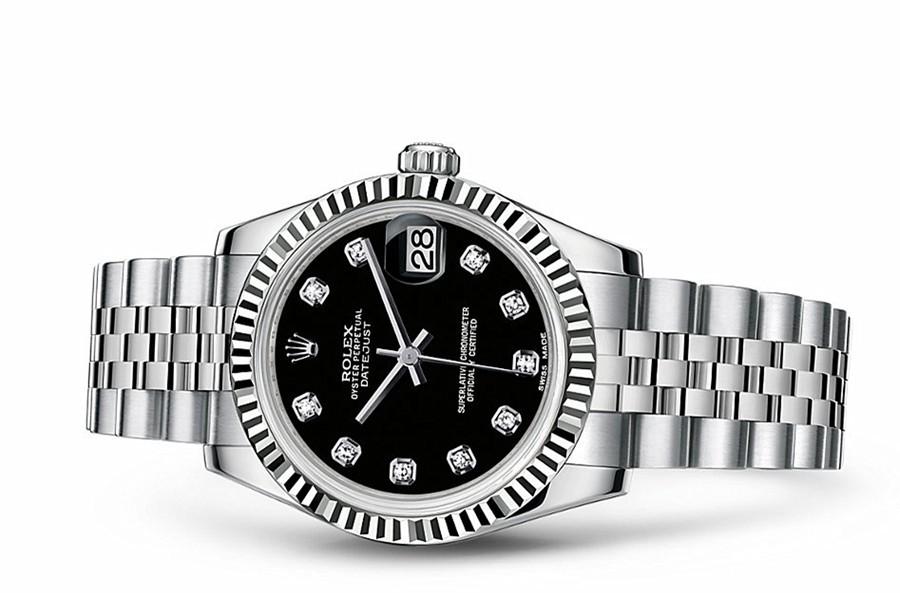 Rolex Datejust Ladies 178274-0014 Swiss Automatic Black Dial 31MM