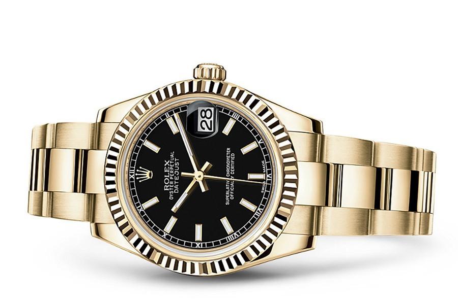 Rolex Datejust Ladies 178278-0106 Swiss Automatic Black Dial 31MM