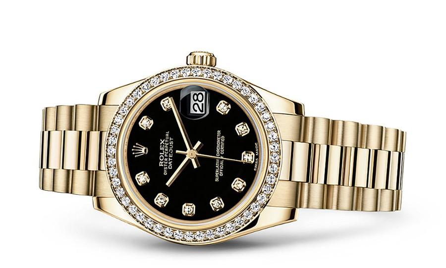 Rolex Datejust Ladies 178288-0011 Swiss Automatic Black Dial 31MM
