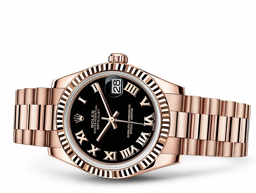 Rolex Datejust Ladies 178275f-0030 Swiss Automatic Black Dial 31MM