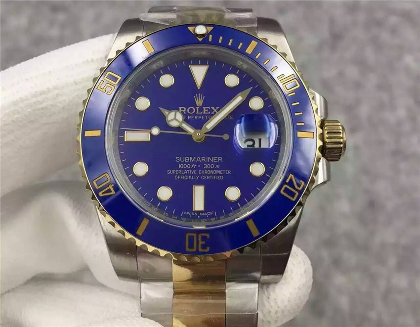 Rolex Submariner Swiss Automatic Watch S6-Blue Dial