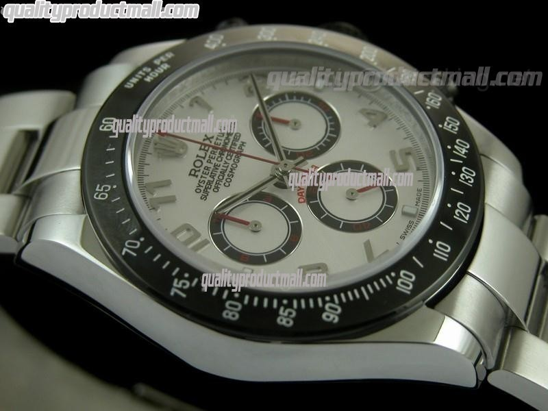 Rolex Daytona Project X Limited Edition Swiss Chronograph-White Dial White Subdials-Stainless Steel Oyster Bracelet