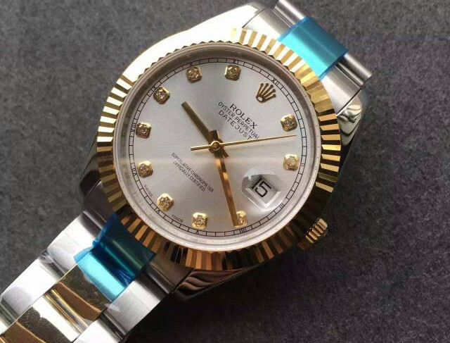 Rolex Datejust Swiss Automatic Watch-Yellow Gold-Diamonds Hour Markers 41MM