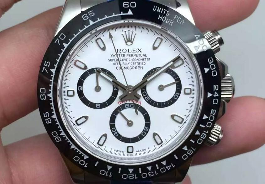 Rolex Daytona Cosmograph 2016 Swiss Chronograph-Ceramic Bezel White Dial