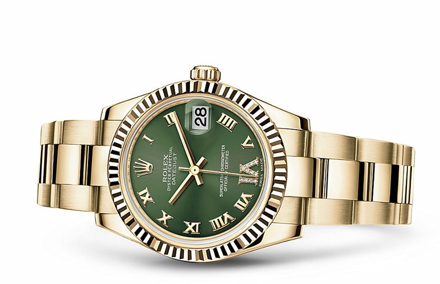 Rolex Datejust Ladies 178278,0131 Swiss Automatic Green Dial