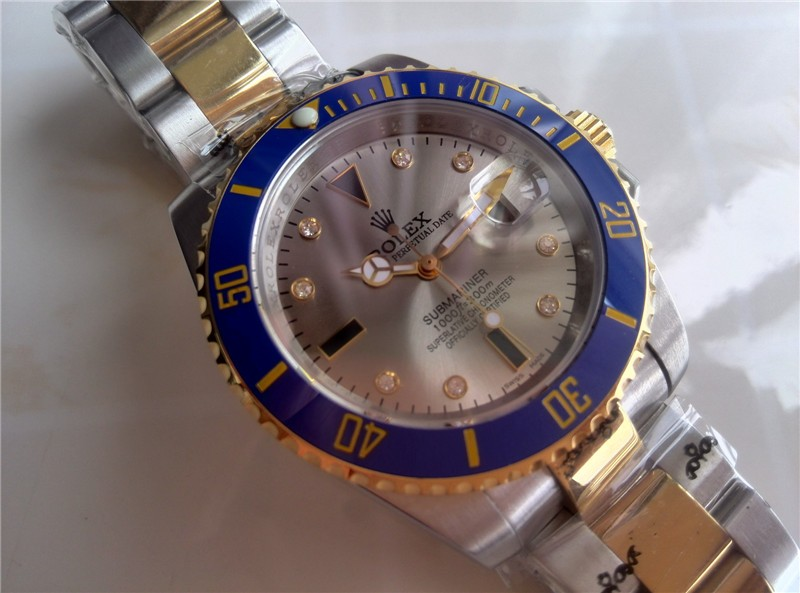 Rolex Submariner Automatic18K Gold-Gray Dial-Two Tone Oyster Bracelet