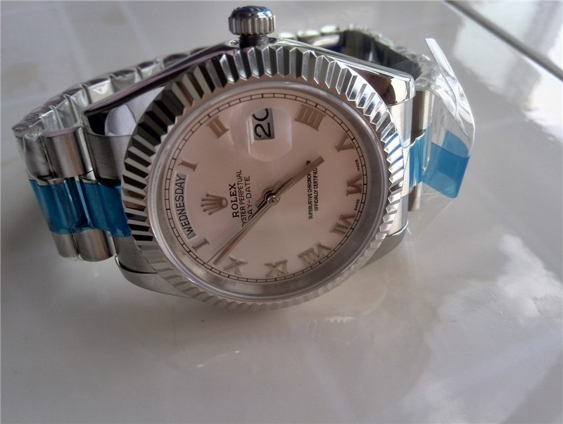 Rolex Day-Date II Automatic Watch White Dial Roman Markers
