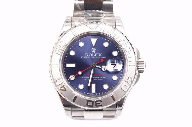 Rolex Yachtmaster II Swiss Automatic-Blue Dial White Dot markers-Stainless Steel Oyster Strap