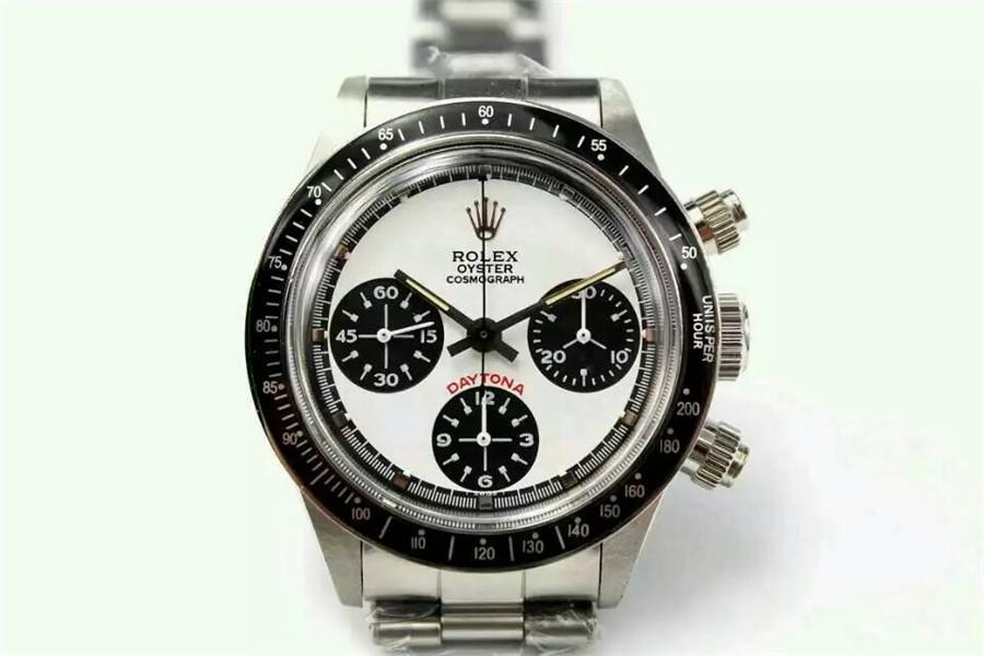Rolex Daytona Paul Newman Chronograph-White Dial Black Subdials-Black Bezel-Stainless Steel Oyster Bracelet