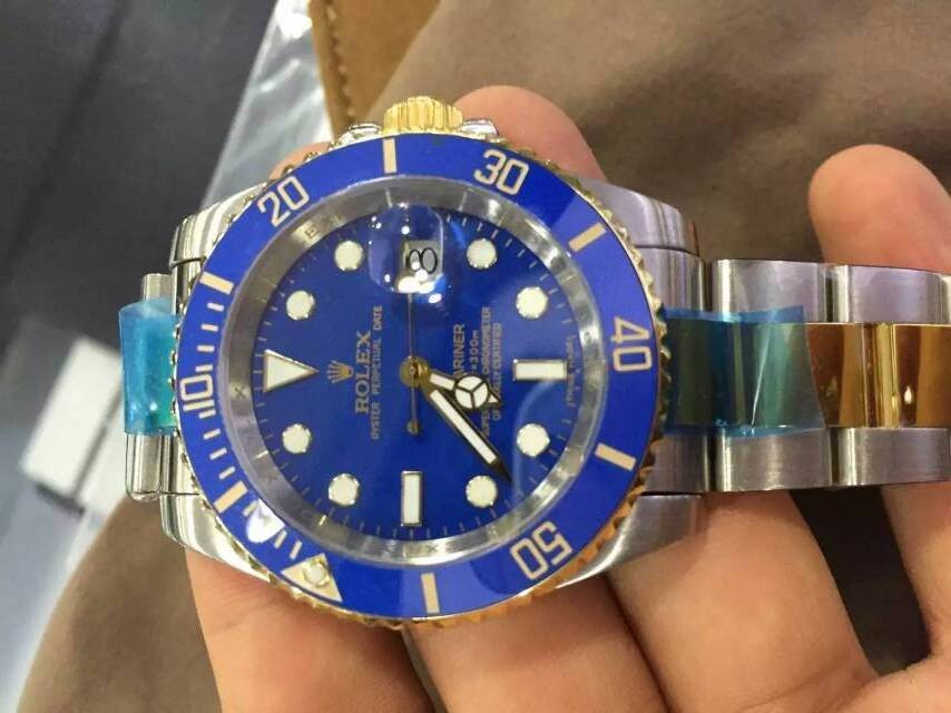 Rolex Submariner Swiss 3135 Automatic Watch Blue Dial