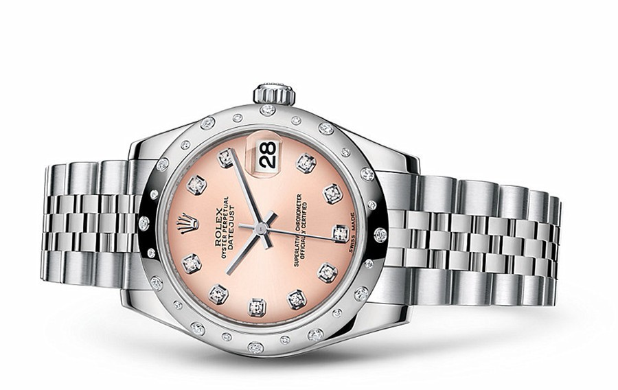 Rolex Datejust Ladies 178344-0023 Swiss Automatic Pink Dial 31MM
