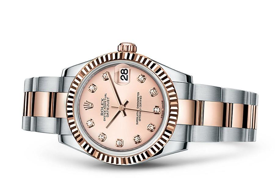 Rolex Datejust Ladies 178271-0045 Swiss Automatic Pink Dial 31MM
