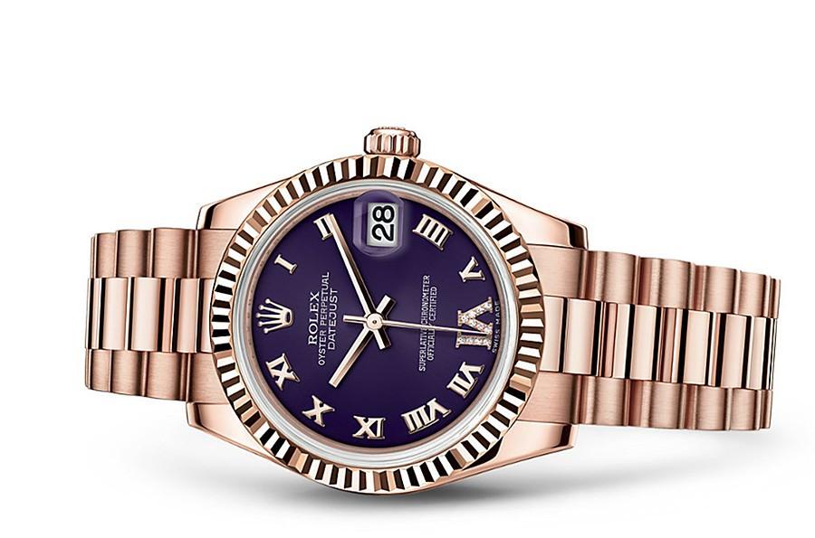 Rolex Datejust Ladies 178275F-0033 Swiss Automatic Purple Dial 31MM