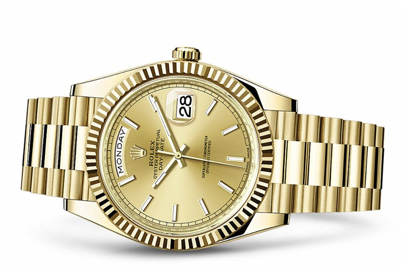 Rolex Day-Date 228238-0003 Swiss 3255 Automatic Watch Golden Dial 40MM