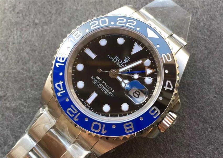 Rolex GMT-Master II Batman Swiss Automatic Watch Dark Knight 116710BLNR