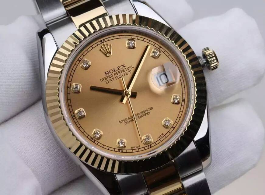 Rolex Datejust II 41mm Automatic Two Tone 18k Gold-Gold Dial Diamond Markers-Stainless Steel Jubilee Bracelet