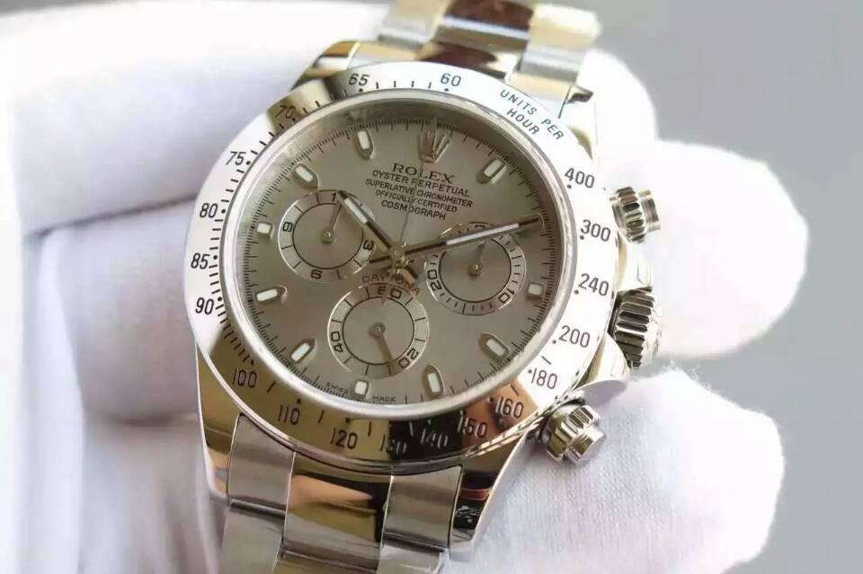 Rolex Daytona Swiss Chronograph-Gray Dial-Steel