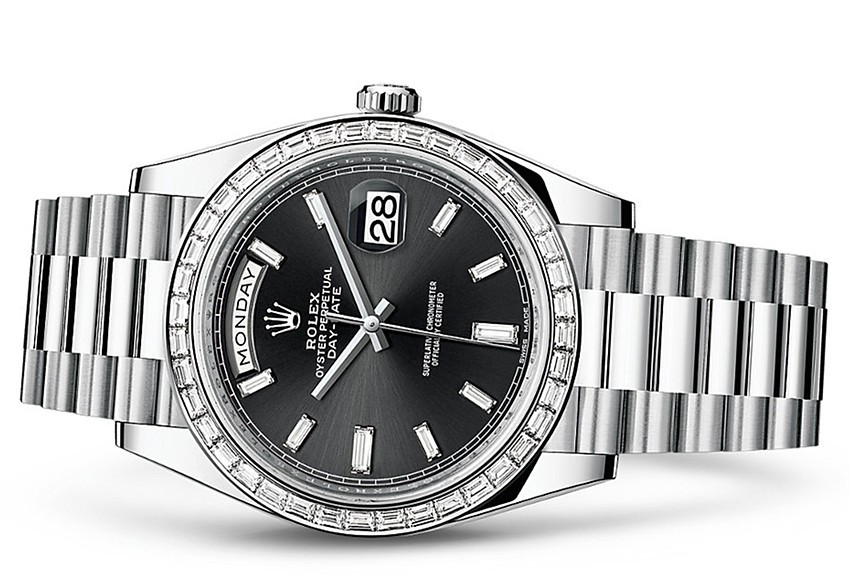 Rolex Day-Date 228396TBR Swiss 3255 Automatic Watch Black Dial 40MM