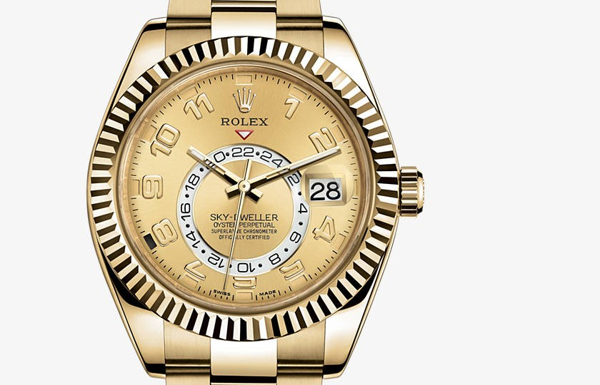 Rolex Sky-Dweller Automatic Watch Full Gold