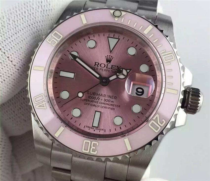 Rolex Submariner Ladies Watch Pink Dial