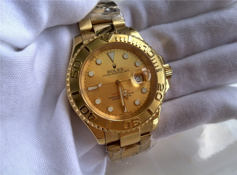 rolex yachtmaster ii 18k gold plated swiss automatic