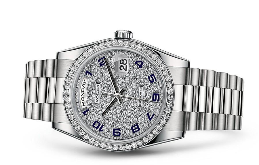 Rolex Day-Date 118239 Swiss Automatic Watch Diamonds Dial 36MM