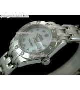 Rolex Masterpiece Ladies Automatic Watch-MOP Dial Silver Roman Markers-Stainless Steel Masterpiece Bracelet