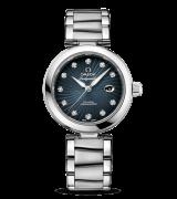 Omega De Ville Ladymatic Automatic Watch-Dark Blue Coral Design Dial