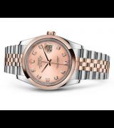 Rolex Datejust 116201-0064 Swiss Automatic Watch Pink Dial Jubilee Bracelet 36MM