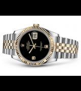 Rolex Datejust 116233-0202 Swiss Automatic Black Dial Jubilee Bracelet 36MM
