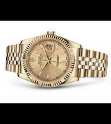 Rolex Datejust 116238-0059 Swiss Automatic Watch Full Gold Jubilee Bracelet 36MM
