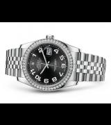 Rolex Datejust 116244-0066 Swiss Automatic Black Dial Jubilee Bracelet 36MM