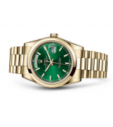 Rolex Day-Date 118208 Swiss Automatic Watch Green Dial 36MM